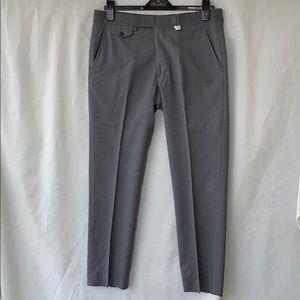 Billy Reid Heirloom Gray Wool Flat Front Pants 32